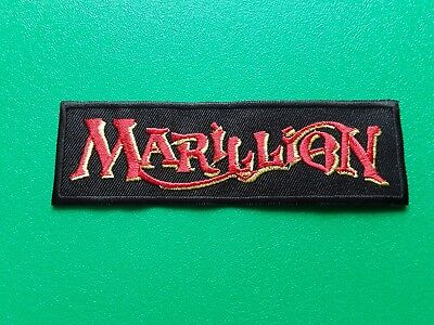 PUNK ROCK HEAVY METAL MUSIC SEW / IRON ON PATCH:- MARILLION (a) FISH