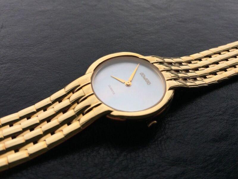 NOS NEW Duward reloj watch vintage quartz gold mujer b53a2221295e