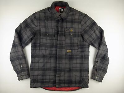 C444 G-STAR heavy flannel padded overshirt jacket size L (small), excellent!, used for sale  Shipping to Ireland