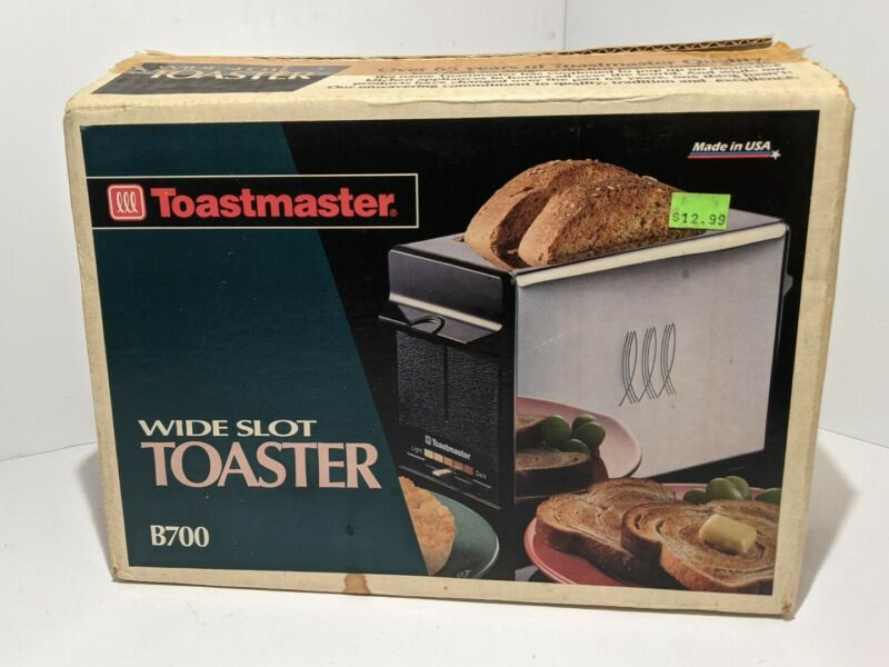 Vintage Toastmaster Wide Slot Bread Toaster Model B700 NIB Kitchen USA MADE NEW