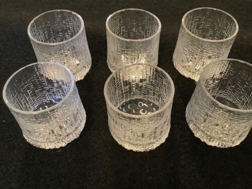 Iittala Tapio Wirkkala Ultima Thule Cordial/Shot Glasses Set 6 Made in Finland
