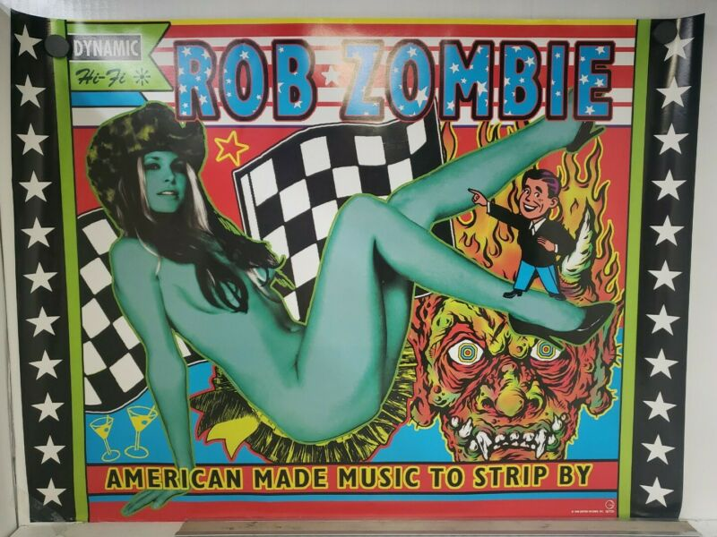 "ROB ZOMBIE american made music to strip by promo poster 1999 Geffen  24"" x 18"""