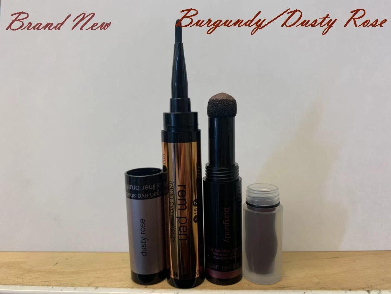 Josie Maran REM Pen/Crayon 2 in1 Argan Eye Shadow&Gel Liner(Burgundy/Dusty Rose) Eye Shadow & Liner Combination