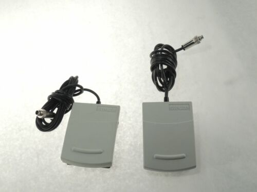 LOT of TWO - STEUTE MKF 1S-MED Wired Medical Foot Switch Pedal WHITE  *REFURBISH