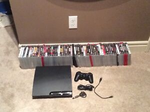 PS3 console + 61 games