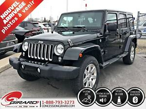 2017 Jeep Wrangler Unlimited SAHARA*AUDIO ALPINE*GPS*CUIR*2 TOIT