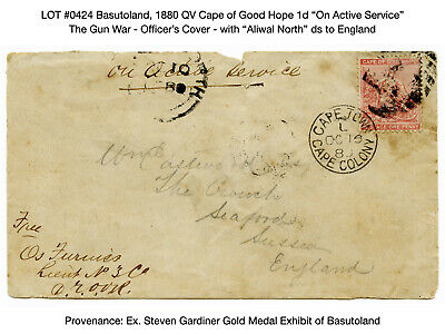 "0424: Basutoland, 1880 QV Cape of Good Hope 1d ""On Active Service"" - The Gun War"