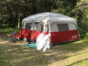 Coleman tent,sun shad shelter,cooler, lawn chair&heater for sale