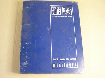 Same Minitauro Tractor Dealer Parts Catalog Manual Book