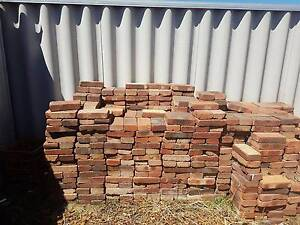 Federation style rustic red brick pavers already lifted Woodvale Joondalup Area Preview