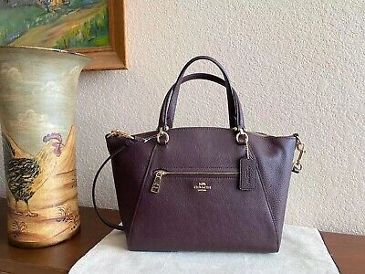 COACH 58874 PEBBLED LEATHER PRAIRIE SATCHEL Oxblood/ Light Gold Gold Pebbled Leather