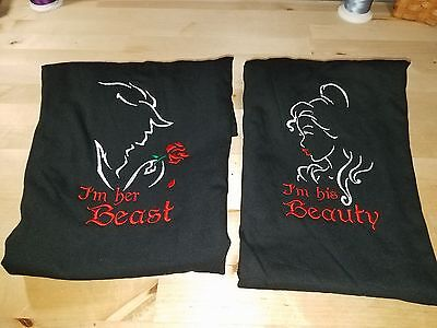 I'm His Beauty AND I'm Her Beast Personalized Shirt. BOTH SHIRTS Couples Shirt