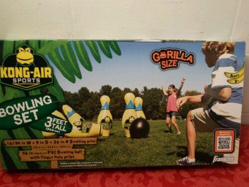 Frankin Kong Air Sports Gorilla Size Bowling Set-new In Box-outdoor Fun