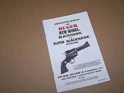 (1979 Sturm Ruger Blackhawk Super Blackhawk Revolver Pistol Owners Instructions)
