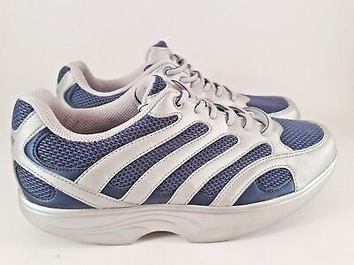(COGENT Toledo Men's Silver Navy Comfort Walking Shoes Size 8 M / 42.5)