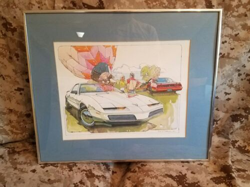 Ken Dallison Art print 1982 82 Pontiac Trans Am Firebird GM advertising framed