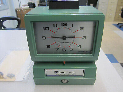 Acroprint Manual Punch Time Clock Model 125nr4 Used