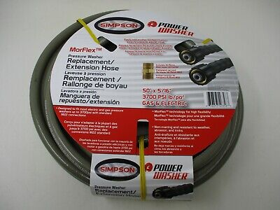 50 516 3700 Psi Simpson Pressure Washer Hose Morflex Cold Water 41109