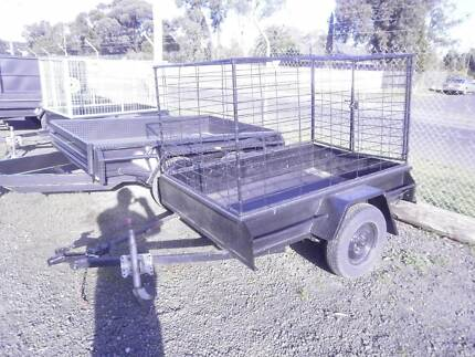 6' X 4' BOX TRAILER WITH CAGE FOR SALE, GEELONG, MELBOURNE, VIC Moolap Geelong City Preview