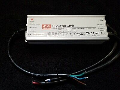 Led Power Supply Driver Dimmable 42v 2.9amp Mean Well Hlg-120h-42b