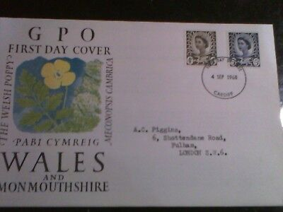 1968 Wales GPO First Day of Use Issue Cover