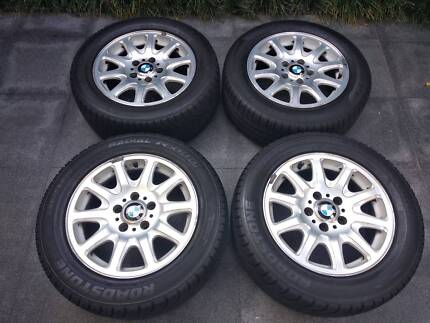 """4x BMW E39 528i 16"""" Alloy Wheels and Tyres 225 55 16. Meadowbank Ryde Area Preview"""