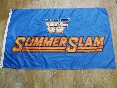 WWF World Wrestling-WCW, WWF, WWE 3'x5' Blue Flag Banner - Wwe Banner