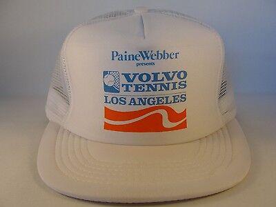 9e2cc6a98 Paine Webber Volvo Tennis Los Angeles Vintage Trucker Snapback Hat Cap Size  M L