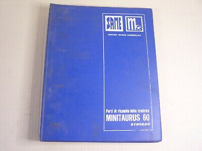 Same Minitaurus 60 Synchro Tractor Dealer Parts Catalog Manual Book