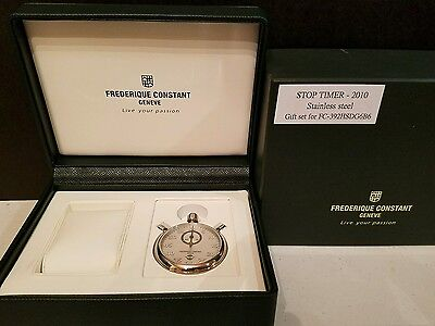 New Frederique Constant Healey FC-392HSDG6B6 Stop Timer Stopwatch only w/box