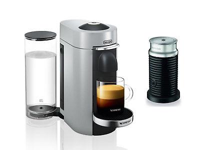 Nespresso Delonghi ENV155SAE VertuoPlus Deluxe Coffee Espresso Machine, Greyish-white