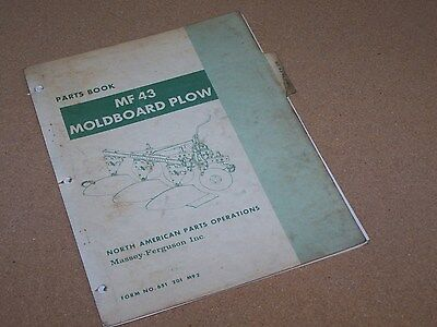Mf 43 Moldboard Plow For Massey Ferguson Mf Tractor Parts Book Manual Catalog