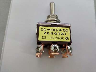Momentary Dpdt On -off- On 3 Position 6pin Toggle Switch Ac 250v 15a
