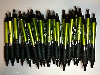 25 Ct Lot Misprint Olive Metallic Green Retractable Click Pens Wgrip Free Ship