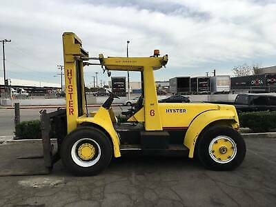 2 Refurbished Hyster H250h Diesel Pneumatic Forklifts 25000lb Cap. 4500 Hours