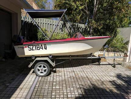 Savage Boat with 40HP motor and trailer