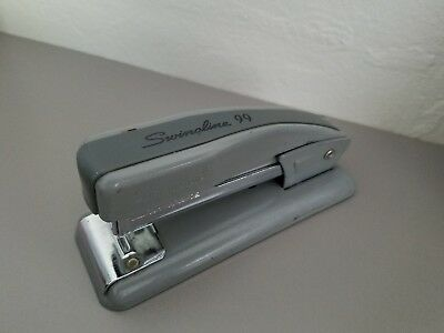 Vintage Usa Swingline No. 99 Stapler Gray Mid-century Modern Half Strip Small