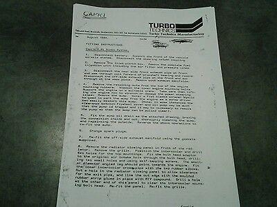 ford capri 2 8 turbo technics fitting manual