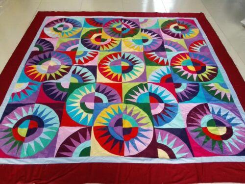 Queen Size Machine New York Beauty   patchwork quilt top #45