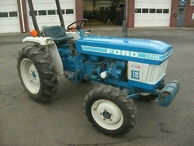Ford 1710 Tractor Hood Decal Blue White
