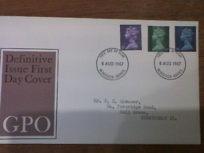 1967 Definitive Issue FDC Windsor Berks cover with insert