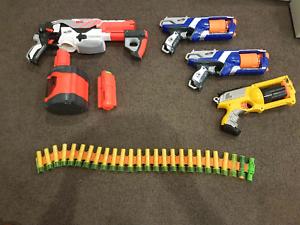 Mixed lot Nerf guns