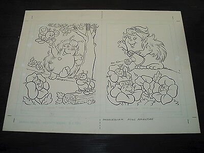 Snugglebumm Coloring Book Original Artwork RARE! Stan Goldberg! ART#0557