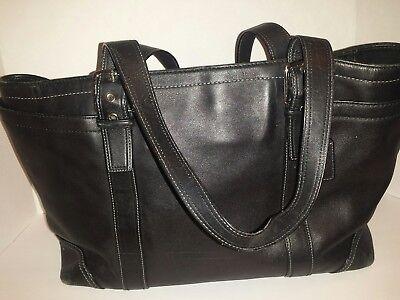 """Coach  tote classic Black double straps handles 10""""H × 14""""L straps drop 29"""" long"""