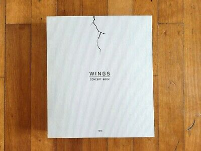 BTS [WINGS CONCEPT BOOK] Photobook+2 PHOTO FRAME PAPER+Gift No Lenticular Card