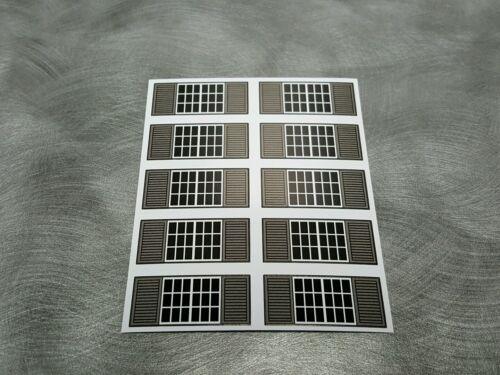 dcp Farm custom Machine Shed 1/64 window stickers with dark gray shutters (10)