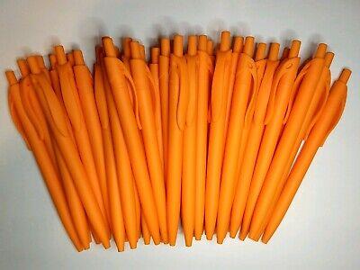 40 Ct Soft Touch Rubber Orange Click Retractable Poppy Pen Black Ink Free Ship