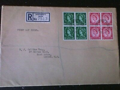 GB First Day Cover 1952 Wilding Definitives Shepherds Bush