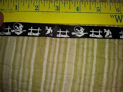 Roll of Halloween Riders Satin Ribbon #3 Pet Pro-For Dog Groom Bows/Cheer - Halloween Bows For Dogs