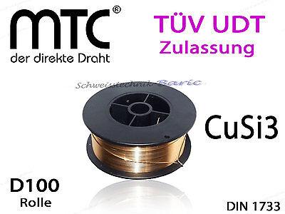 Schweissdraht MT-CuSi3  0,8mm 1 Kg Rolle D100 2.1461 MIG/MAG MIG Löten Lötdraht